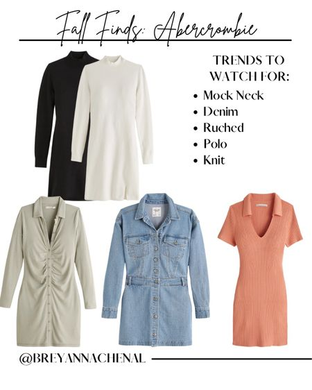 Abercrombie fall dresses   Sweater dress, denim dress, polo dress, tshirt dress  #LTKunder50 #LTKstyletip #LTKSale