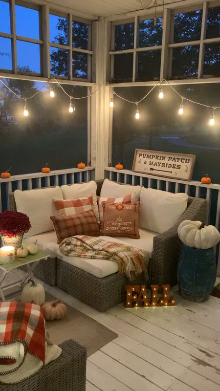 Magical fall nights spent on the porch. These are the days ✨🍂🎶🎃  #LTKhome #LTKfamily #LTKSeasonal