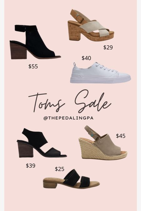 Run!! Major sale on all Tom's shoes! Perfect options for Spring and summer! I love the black heeled Majorica shoe! I wear it so much in the summer! All are under $50!  http://liketk.it/3beBI #liketkit @liketoknow.it   #LTKSpringSale #LTKunder50 Shop your screenshot of this pic with the LIKEtoKNOW.it shopping app #LTKshoecrush