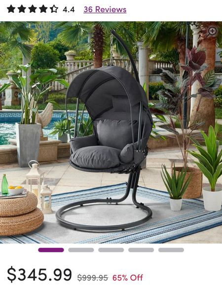 Obsessing over this chair and the price. This looks soo comfy too. I think we all need one in our yard!   #LTKhome #LTKsalealert #LTKSeasonal