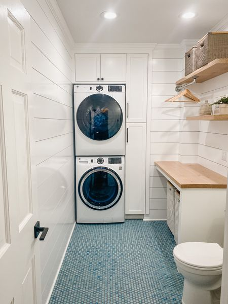Laundry room (mostly) complete! Products linked here!