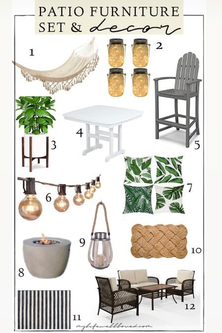 Patio decor 🤩 amazing Amazon patio furniture sets that will give your outdoor living space a fun refresh that doesn't break the bank! http://liketk.it/3hhMm #liketkit @liketoknow.it #LTKDay #LTKhome #LTKunder100
