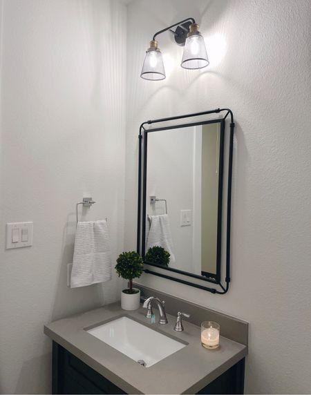 Home decor bathroom mirror lighting   #LTKfamily #LTKunder100 #LTKhome