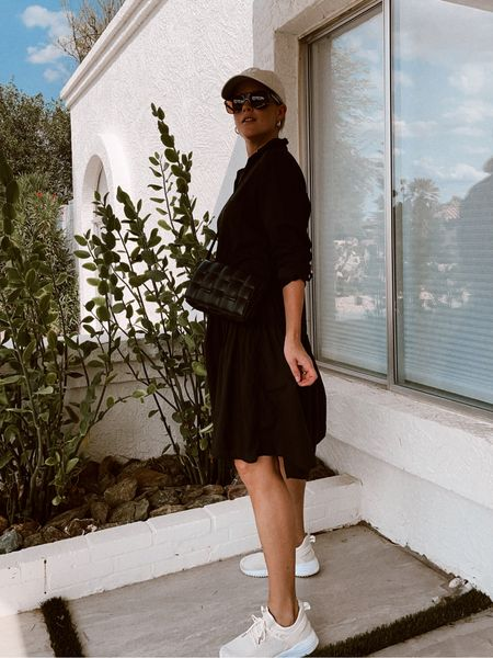 Light as air tissue cotton dress & the comfiest sneakers (they run a half size big). Use code ERICAREID for $25 off Grayson purchases! #dresses #grayson #tissuecotton #shirtdress #womanowned #discountcode #sneakers #shoes #hat #crossbodybag #amazonfashion #sunglasses #hoops   #LTKshoecrush