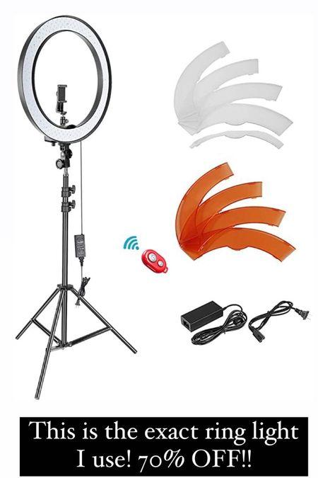 Ring light set on sale for Amazon prime day http://liketk.it/3iaUn #liketkit @liketoknow.it #LTKsalealert #LTKhome