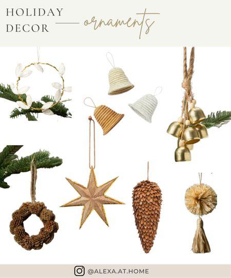 Holiday decor - ornaments   Holiday ornaments, ornaments, Christmas ornaments, festive ornaments  #LTKhome #LTKSeasonal #LTKHoliday