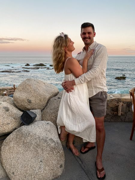 Husband and wife beach outfit inspo 💕 Beachside neutral outfits! Linking both of ours.   #LTKtravel #LTKmens #LTKstyletip