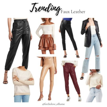 Faux leather is here to stay! I have the joggers and LOVE! Dress up or down! #fashion #fallfashion #fashionista #shopaholic #fauxleather #joggers  #LTKstyletip #LTKSeasonal #LTKsalealert
