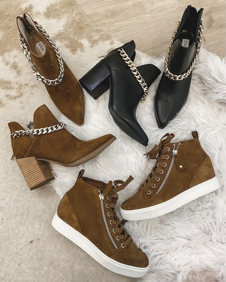 Fall booties with chain detail and sneakers are on sale save 39%  Run tts   #LTKsalealert #LTKshoecrush #LTKunder100