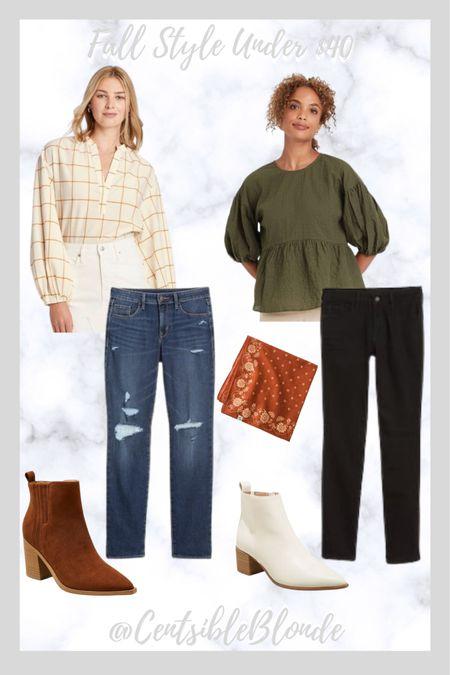 Fall style under $40 Fall outfits Mid-rise jeans  #LTKunder50 #LTKSeasonal #LTKshoecrush