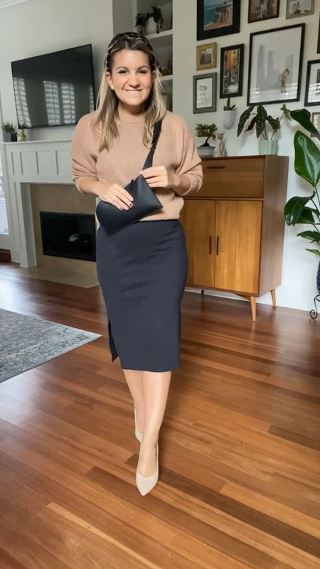 How to style a midi dress for fall! Petite style Midi shirt dress Fall style   #LTKSeasonal #LTKstyletip