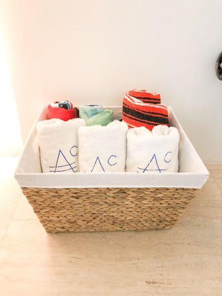 Towel bin storage idea⭐️  #LTKfamily #LTKhome #LTKunder50