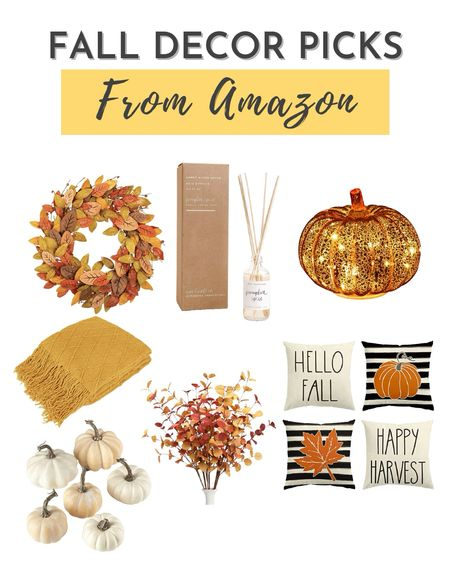 Get your home ready for Fall with this fall inspired home decor from Amazon.    #LTKSeasonal #LTKhome