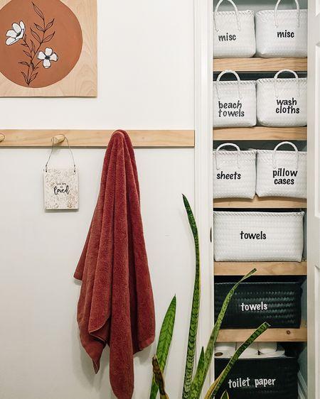 Linen closet organizing http://liketk.it/36R8D #liketkit @liketoknow.it #StayHomeWithLTK #LTKhome #LTKfamily