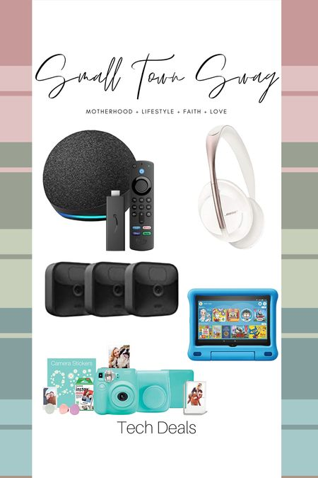 Some of my fave tech deals for Prime Day🙌🏽🙌🏽  If you like what you see, then be sure to head over to Instagram and follow me @small.town.swag! I share more of my crazy mom life, fun finds like these, home decor and more there! . . . . . .  Amazon // prime day // Amazon prime // Amazon deals // Amazon home // Amazon electronics // tech deals // fire tablet // Bose // Bose sound canceling headphones // headphones // home security // camera // link camera // Echo // fire stick // camera firestick // fujifilm camera // Fuji film camera // Instant camera   #LTKhome #LTKsalealert #LTKfamily