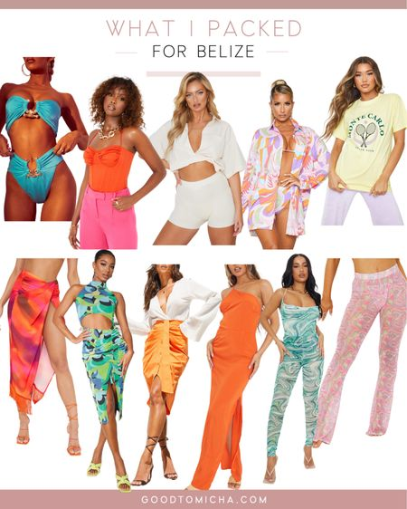 Shop similar items to what I packed for my trip to Belize - trendy fashion, mesh pants, beach shirt, high fashion, bodycon   #LTKtravel #LTKstyletip #LTKswim