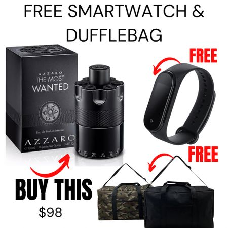 Buy the fragrance and get a FREE smart watch plus get a FREE duffle bag!  http://liketk.it/3gQ85 #liketkit @liketoknow.it #LTKmens #LTKsalealert #LTKunder100