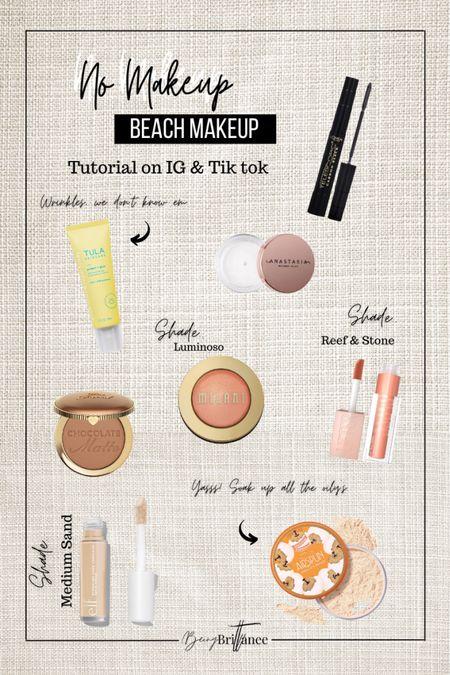 Quick & Easy 5 minute realistic Beach Makeup.   #LTKsalealert #LTKswim #LTKbeauty