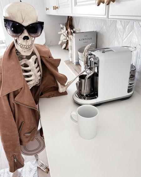Halloween decor, coffee bar, coffee accessories, espresso maker, fall jacket, StylinAylinHome  #LTKhome #LTKunder100 #LTKSeasonal