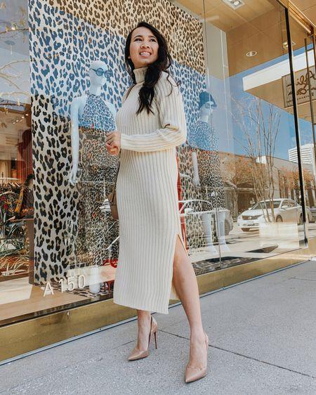 Maxi dress, maxi sweater dress, winter outfit. http://liketk.it/2A8G9 #liketkit @liketoknow.it #LTKunder100
