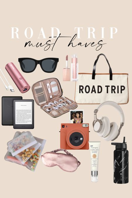 Travel necessities + road trip must haves + lipgloss + electronics + airport must haves + home organization #travel  #LTKSeasonal #LTKsalealert #LTKtravel