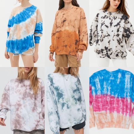 A round up of oversized tie dye sweatshirt options! The one at @aerie may be sold out right now but these ones from @urbanoutitters are so cute too and they're all recycled! http://liketk.it/2NNt5 #liketkit @liketoknow.it Download the LIKEtoKNOW.it shopping app to shop this pic via screenshot
