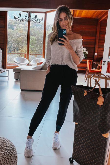 Airport outfit, casual elegant style , comfy style , butter soft joggers , adidas , Nordstrom anniversary sale   #LTKsalealert #LTKtravel #LTKunder50