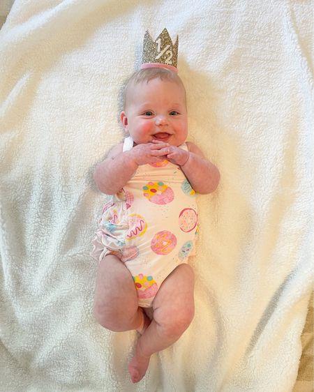 Baby girl half birthday 🎉   http://liketk.it/3hUbl #liketkit @liketoknow.it #LTKbaby #LTKfamily #LTKunder50 #babygirl #halfbirthday #6months