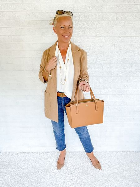 Casual Outfit / Casual Look / Skinny Jeans / Shopping Look / Shopping Outfit / Lunch Look / Lunch Outfit / Date Night Look / Date Night Outfit / Designer Outfit / Kate Spade / Tory Burch / over 40 / over 50 / over 60 / petite / Fall Outfit / Fall Fashion   #LTKitbag #LTKworkwear #LTKSeasonal