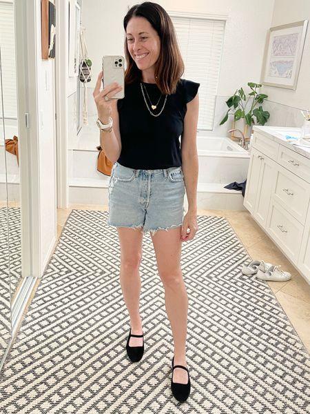 Shoes- Everlane true to size or size up 1/2 Shorts Parker long shorts - Agolde true to size or size down  Shirt - ABLE use code ARTINTHEFIND25 for 25% off anything    #LTKstyletip #LTKsalealert #LTKshoecrush