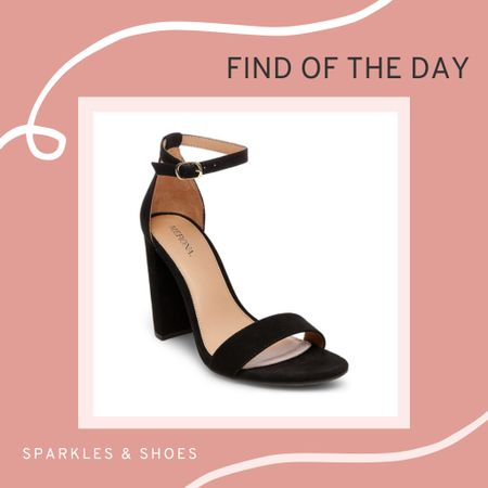 My #findoftheday are these High Block Heel Sandal Pumps with Ankle Straps. I own them in both black and nude, you really can't beat these  #target staples!  #LTKunder50 #LTKunder100 #LTKshoecrush