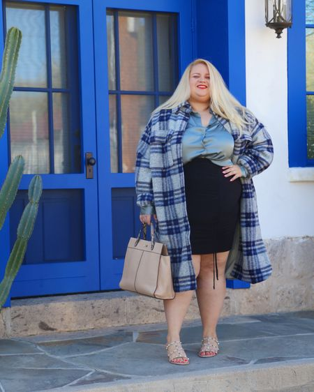 New blog post is going up tomorrow am! Talking about how this shacket looks amazing with workwear and casual looks & is on sale for under $60 http://liketk.it/36dQn #liketkit @liketoknow.it #LTKcurves #LTKstyletip #LTKunder100