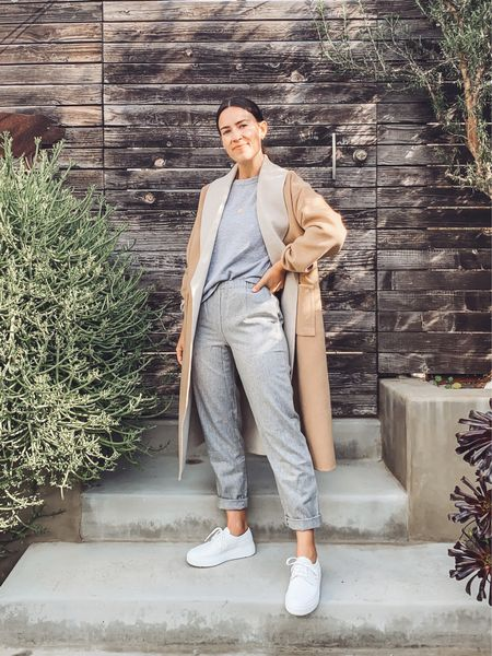 """This brand's clothing runs roomy so I like to size down! Took 1 size down in everything except the pants, which I have in 2 sizes down, largely because I'm only 5'4"""" and I wanted a more fitted look. #ad"""
