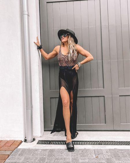 Shopbop Spring Outfit - Leopard Swimsuit with Coverup http://liketk.it/3cMdX #liketkit @liketoknow.it #LTKswim #LTKtravel #LTKstyletip