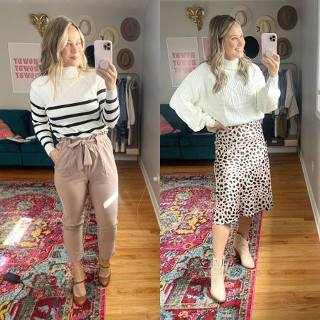 Business casual outfit ideas from amazon! Work pants/ fall sweaters/ fall outfits/ skirt outfit/ amazon fashion   #LTKshoecrush #LTKunder50 #LTKworkwear
