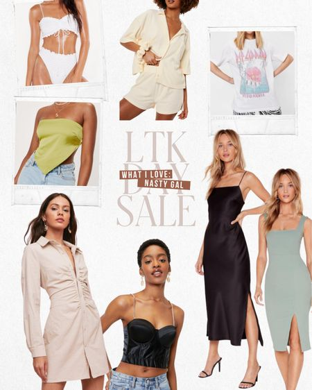 LTK DAY SALE — Exclusive in-app savings from Nasty Gal. Save 60% this weekend only when you shop these items and more directly through the LTK app!  — Wedding guest dress — White bikini — Beachwear — Crop top — Graphic tee  .... and more summer styles! ⭐️  #LTKstyletip #LTKDay #LTKsalealert