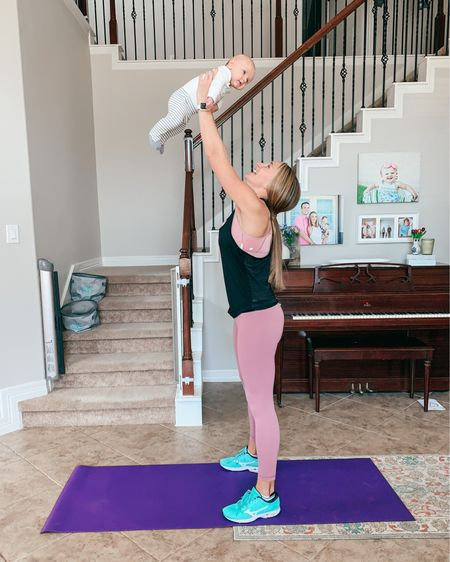 Fitting into clothes postpartum doesn't have to be scary! These leggings went with me from pregnancy to postpartum and feel so good over my belly. They don't cut in and help me feel confident! I just purchased one size up from my pre-pregnancy size! . Shop these leggings and the rest of my postpartum fitness gear! .  http://liketk.it/399Q8 @liketoknow.it #liketkit #LTKfit #LTKunder50