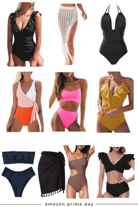 Prime day sales. Women's swimsuits + coverups.  #LTKsalealert #LTKswim #LTKunder50