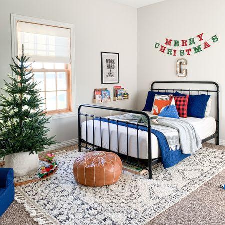 Our oldest son's woodland themed bedroom. Kids room Christmas decor inspo.   #LTKhome #LTKfamily #LTKkids