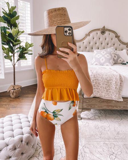 Amazon Prime Day Deal! This swimsuit is included! http://liketk.it/3i32i #liketkit @liketoknow.it #LTKswim #LTKunder50 #LTKsalealert citrus, lemon, orange print, Amazon fashion, Amazon find, bikini, tankini