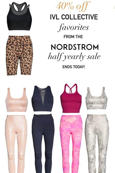 Nordstrom half yearly sale. IVL Collective 40% off! Women's activewear. Sports bras. Leggings. Biker shorts. Cami tanks.  #LTKfit #LTKDay #LTKsalealert