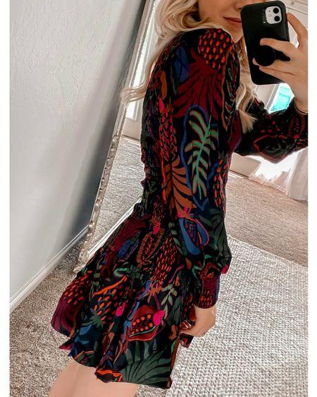 Wedding guest dress, Farm Rio dress  WEARING XS — very stretchy, runs TTS #LTKwedding #LTKstyletip   http://liketk.it/3o9ed @liketoknow.it #liketkit