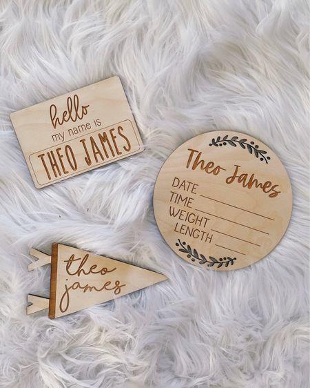 Newborn announcement, baby signs, baby name signs, wooden name sign, newborn gift, baby keepsake, baby gift, Etsy find. @liketoknow.it http://liketk.it/3hOst #liketkit #LTKbaby #LTKfamily #LTKbump