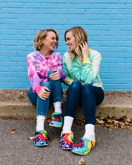 You KNOW how we feel about tie dye around here and GUYS, we are taking things to the next level with these tie dye crocs from @DSW that are absolutely DELIGHTING us. (Did you know you can even get Jibbitz to put in the holes to customize them even more? Can't handle.) We've never been more comfortable and feel strongly that this is THE aesthetic we were meant for. 😂 Find these, our absolute dream shoes, NOW at @DSW, and see all of their products via @liketoknow.it ! #ad #MyDSW #liketkit http://liketk.it/31zFd