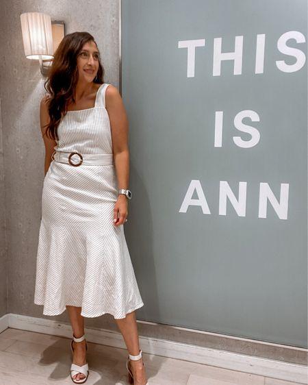 Ann Taylor striped dress  http://liketk.it/3iEN6 #liketkit @liketoknow.it #LTKstyletip #LTKworkwear #LTKcurves