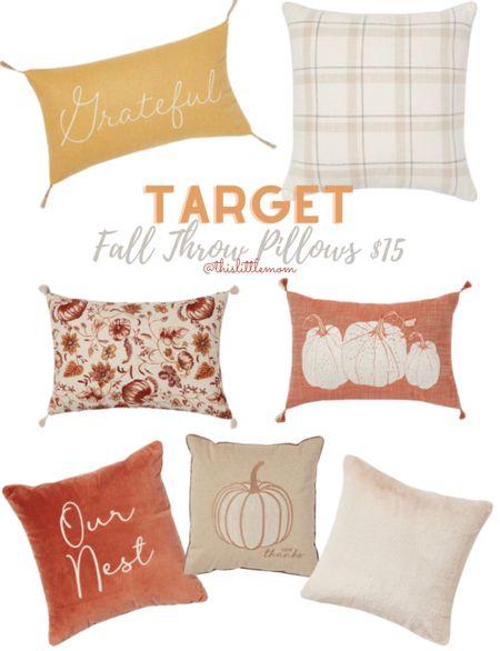 Target Fall Throw Pillows all are $15! #target #falldecor   #LTKstyletip #LTKhome #LTKSeasonal