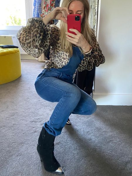 I love to pair blue denim with leopard - a neutral that works equally well with all denims, black, white and blue are my go-to favourites. Add a boot for a relaxed look, the great thing about the Eliza is that it is so easy to wear and comfortable but it makes your outfit look a bit more thoughtful and put together. I never worry about the length of my jeans and my boots. I just pull them on and leave the jeans where they land.  http://liketk.it/2Rv7v #liketkit @liketoknow.it