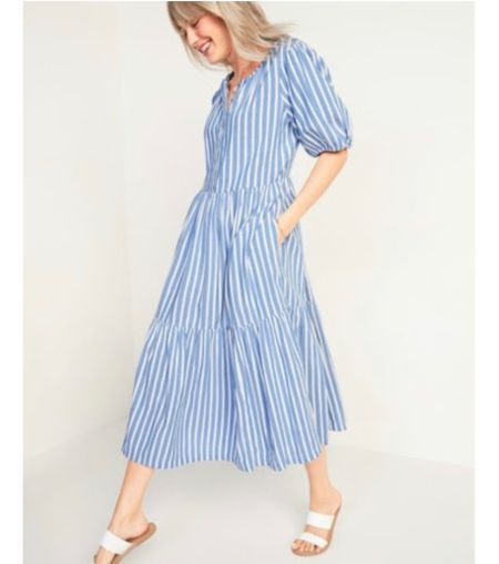 Love this dress from Old Navy! It's perfect for Spring and Summer!   #StayHomeWithLTK #LTKSeasonal