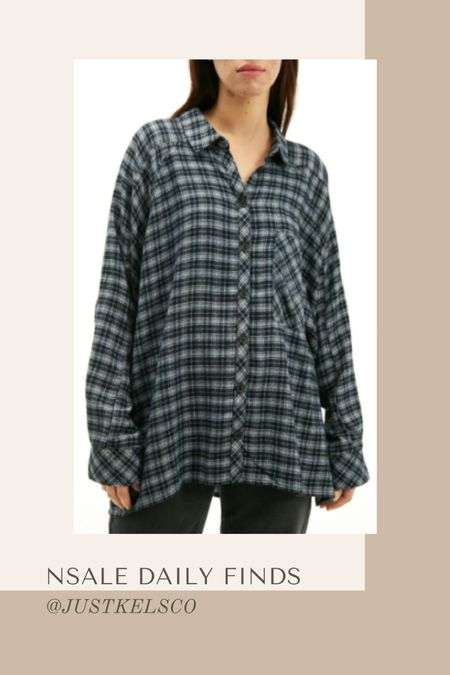 Nordstrom sale daily finds // women's plaid flannel shirt #nsale   #LTKunder50 #LTKsalealert #LTKSeasonal
