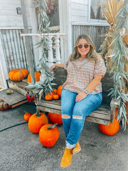 This top was perfect for the pumpkin patch today! Wearing the XL, intended to fit oversized.    #LTKcurves #LTKunder50 #LTKstyletip